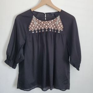 Madewell embroidered top S